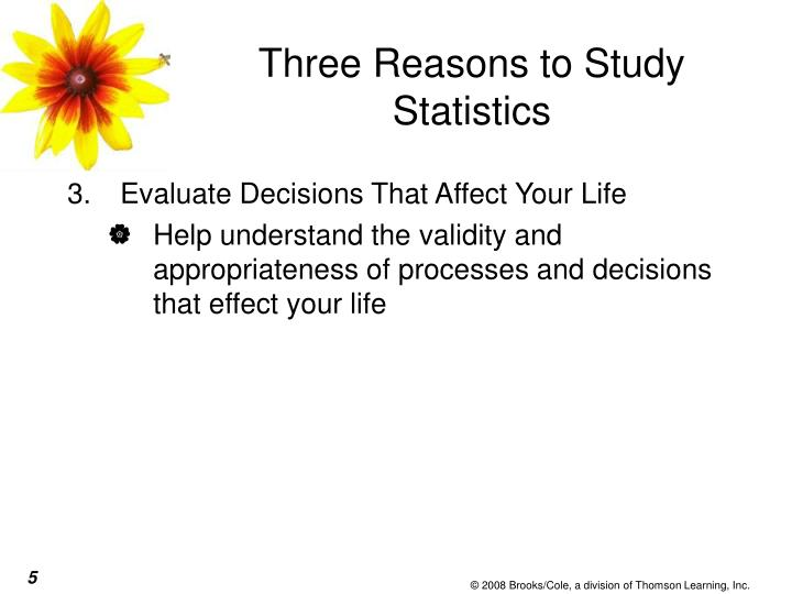 Three Reasons to Study Statistics