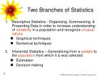two branches of statistics