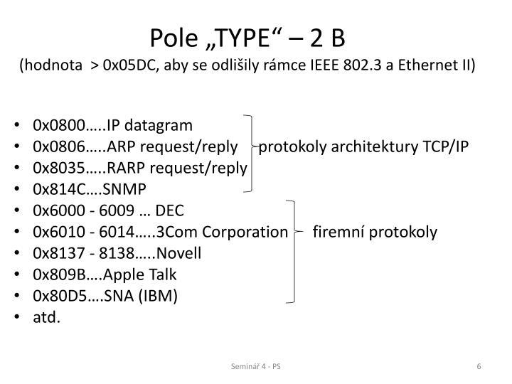 """Pole """"TYPE"""" – 2 B"""