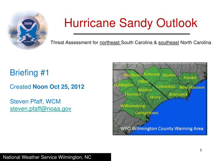 Hurricane Sandy Outlook