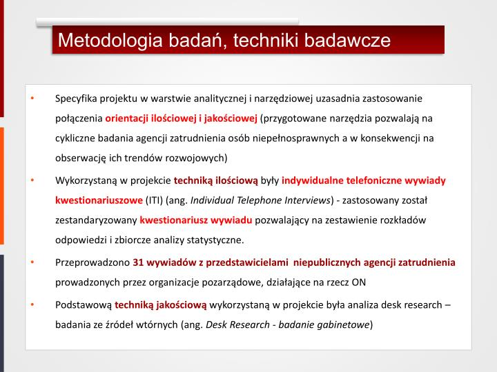 Metodologia badań, techniki badawcze