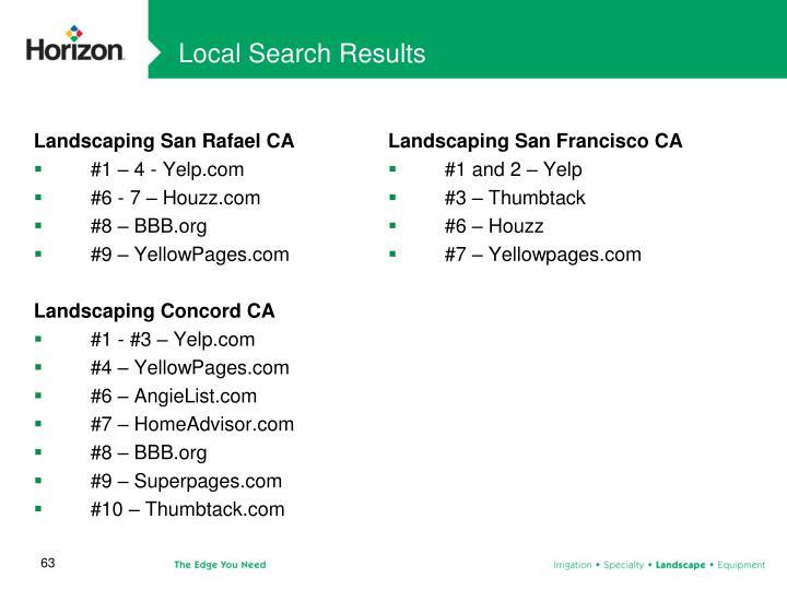 Local Search Results