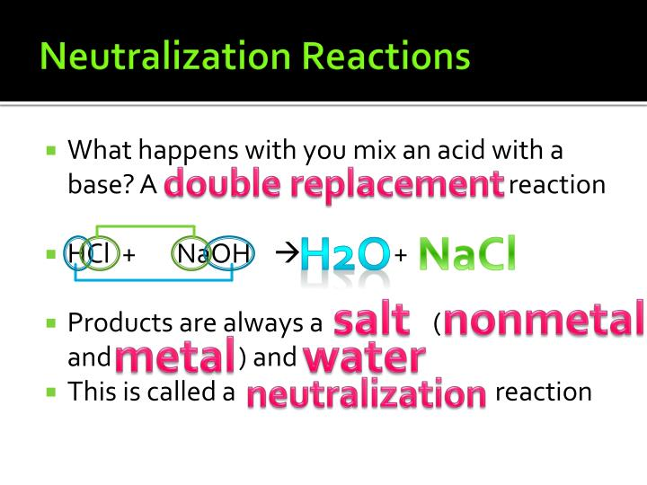 What happens with you mix an acid with a base? A ____________________________________________ reaction