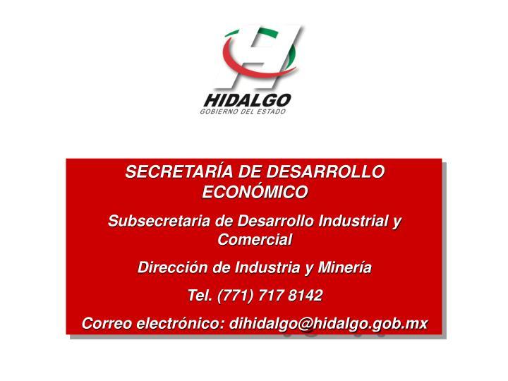 SECRETARÍA DE DESARROLLO ECONÓMICO