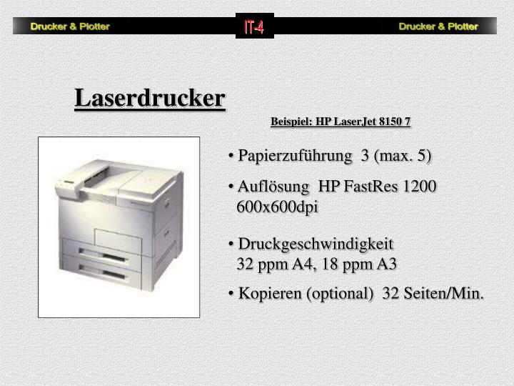 Beispiel: HP LaserJet 8150 7
