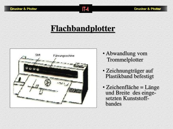Flachbandplotter