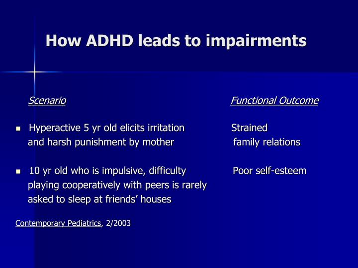 How ADHD leads to impairments