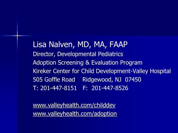 Lisa Nalven, MD, MA, FAAP