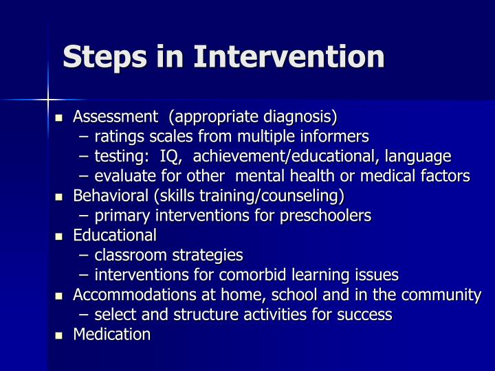 Steps in Intervention