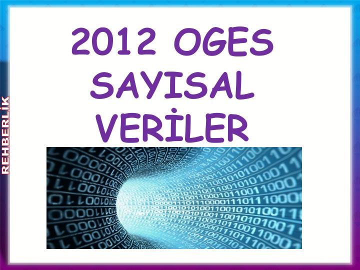2012 OGES SAYISAL VERİLER