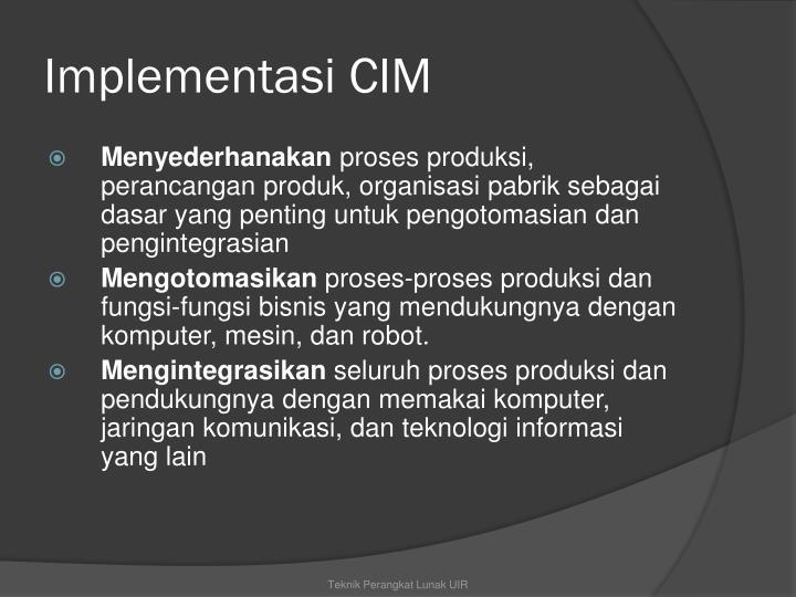 Implementasi CIM