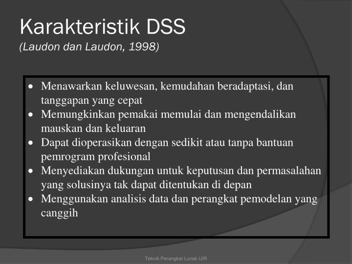 Karakteristik DSS