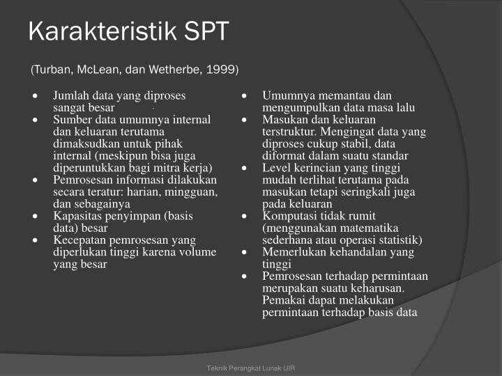 Karakteristik SPT