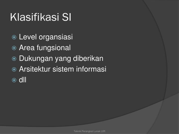 Klasifikasi SI