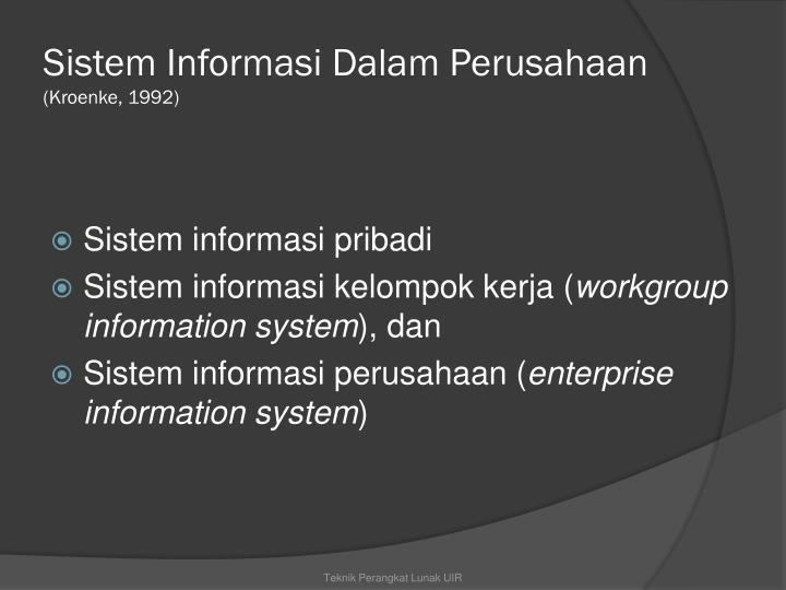 Sistem Informasi Dalam Perusahaan