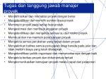 tugas dan tanggung jawab manajer proyek