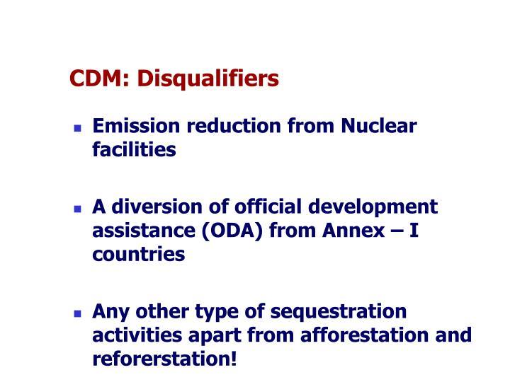 CDM: Disqualifiers