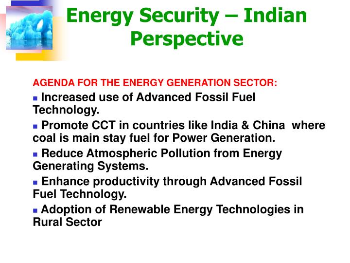 Energy Security – Indian Perspective