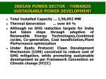 indian power sector towards sustainable power development