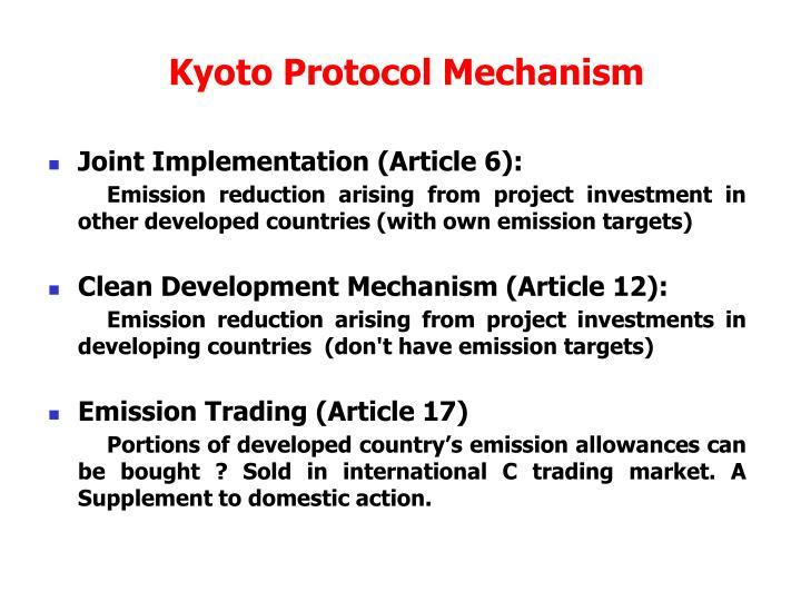 Kyoto Protocol Mechanism