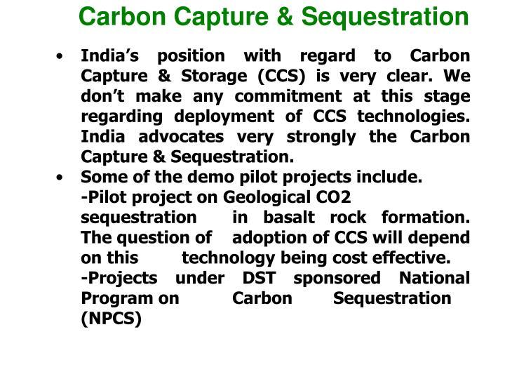 Carbon Capture & Sequestration