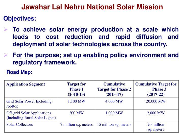 Jawahar Lal Nehru National Solar Mission