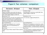 paper a two schemes comparison