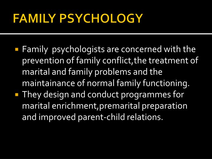 FAMILY PSYCHOLOGY