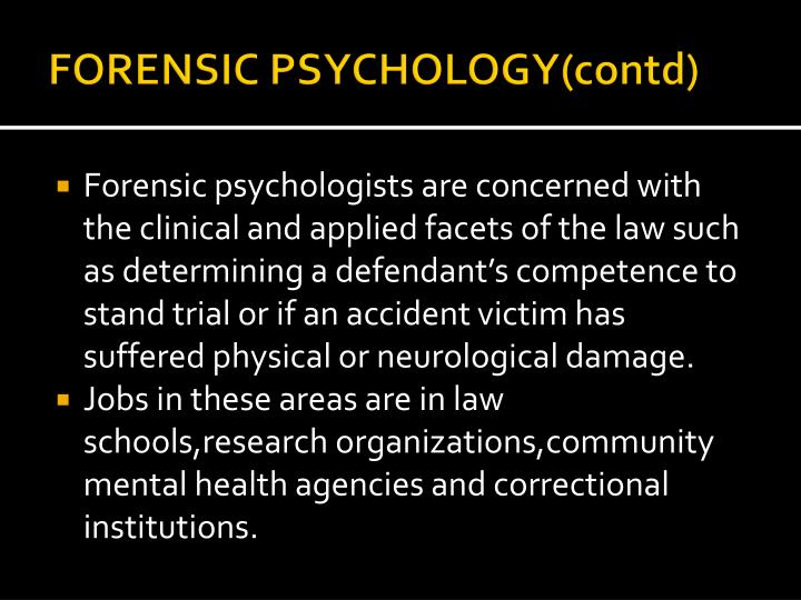 FORENSIC PSYCHOLOGY(