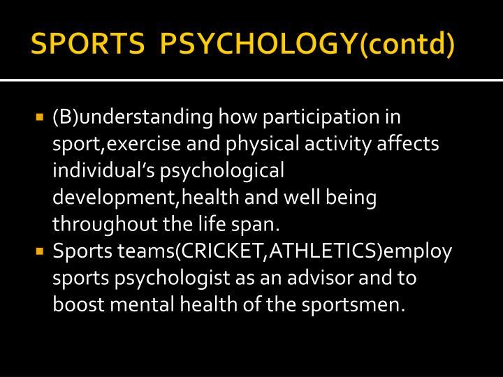 SPORTS  PSYCHOLOGY(