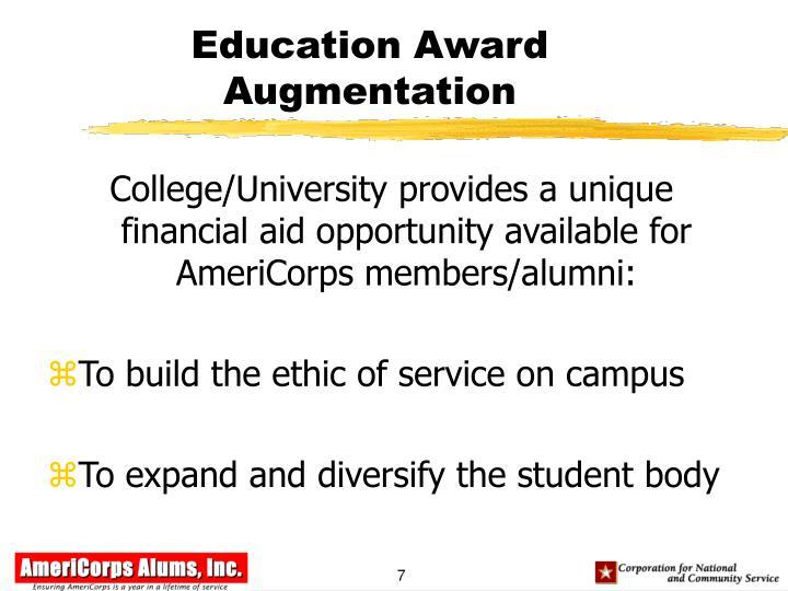 Education Award Augmentation