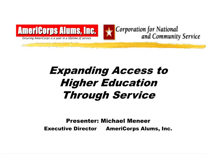 Expanding Access to Higher Education Through Service