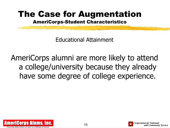 The Case for Augmentation