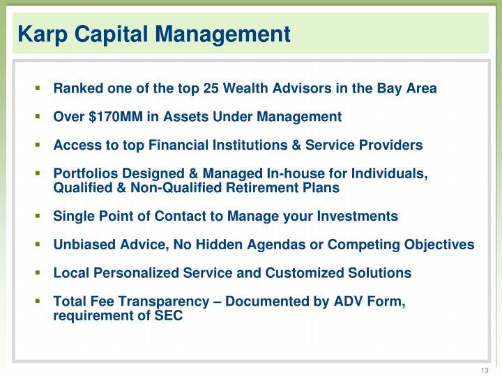 Karp Capital Management