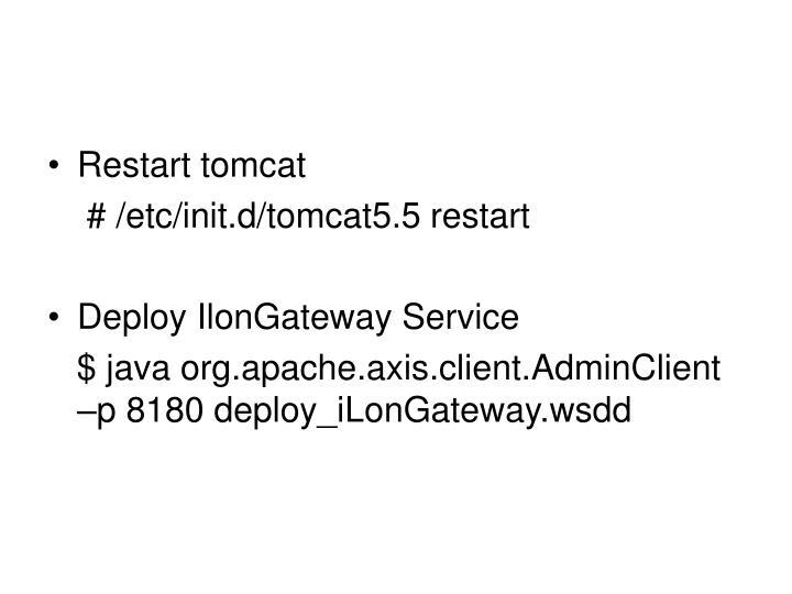 Restart tomcat