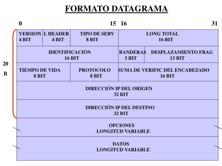 FORMATO DATAGRAMA
