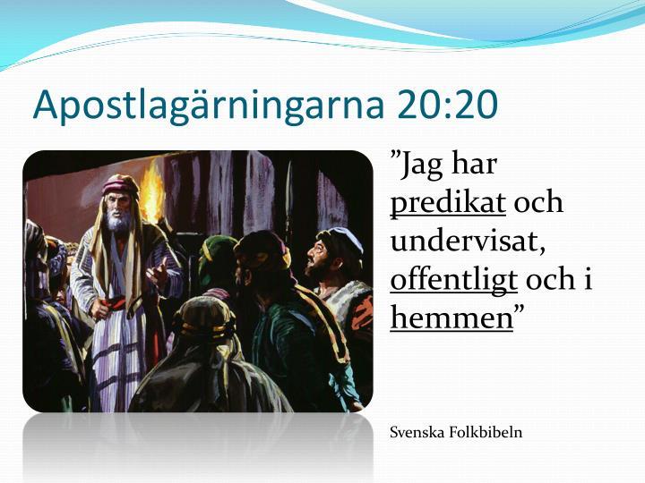 Apostlagärningarna 20:20