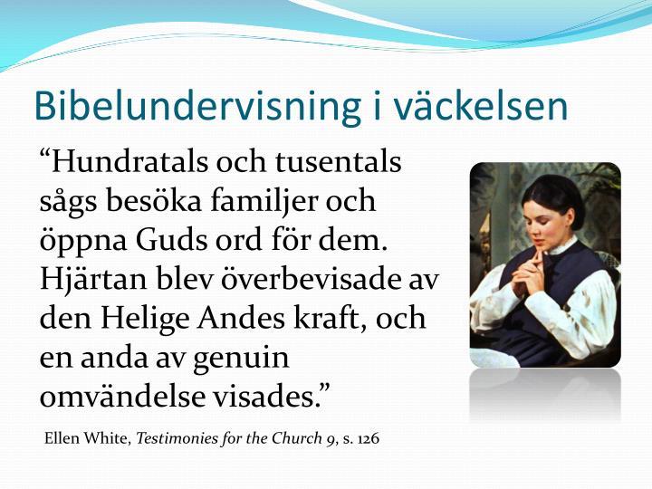 Bibelundervisning i väckelsen