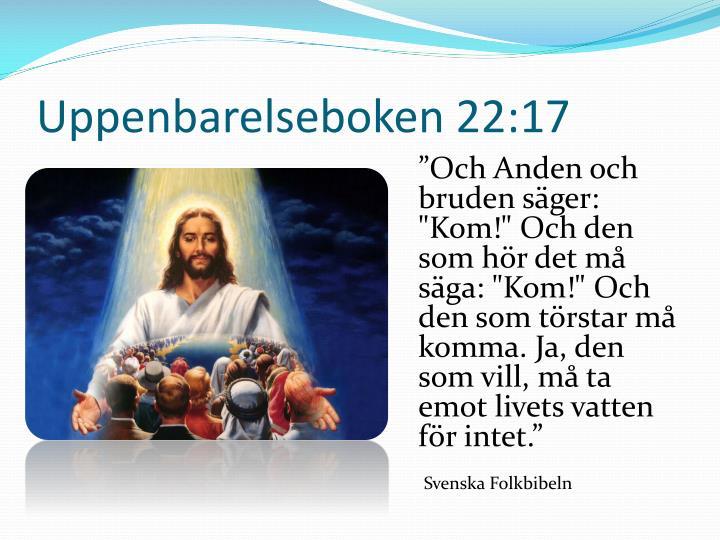 Uppenbarelseboken 22:17