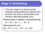 stage 2 partitioning