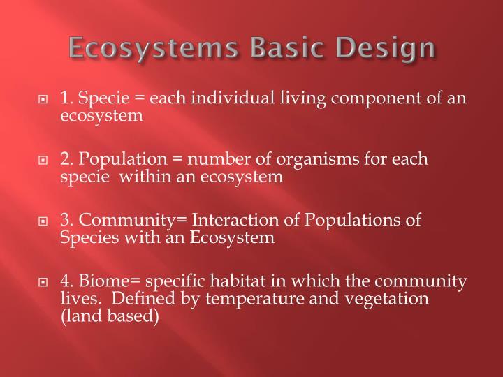 Ecosystems Basic Design