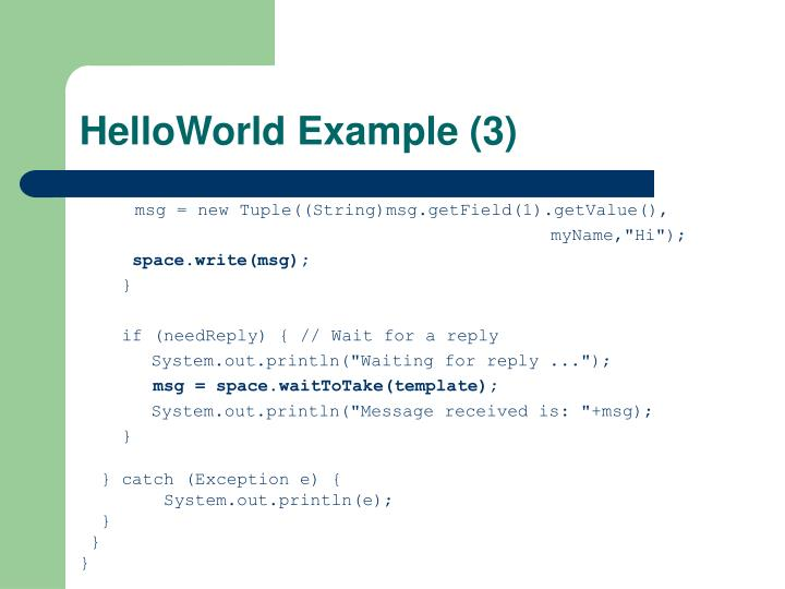 HelloWorld Example (3)