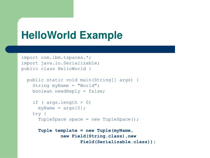 HelloWorld Example