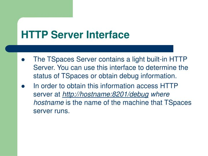 HTTP Server Interface