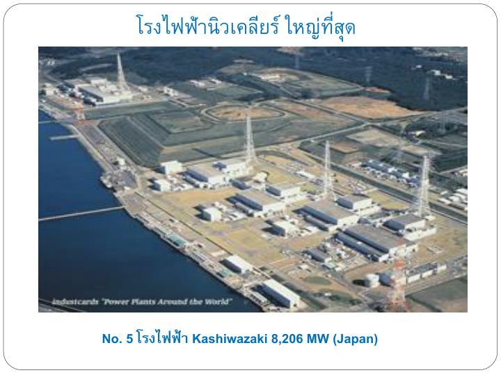โรงไฟฟ้านิวเคลียร์ ใหญ่ที่สุด