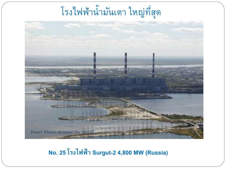 โรงไฟฟ้าน้ำมันเตา ใหญ่ที่สุด
