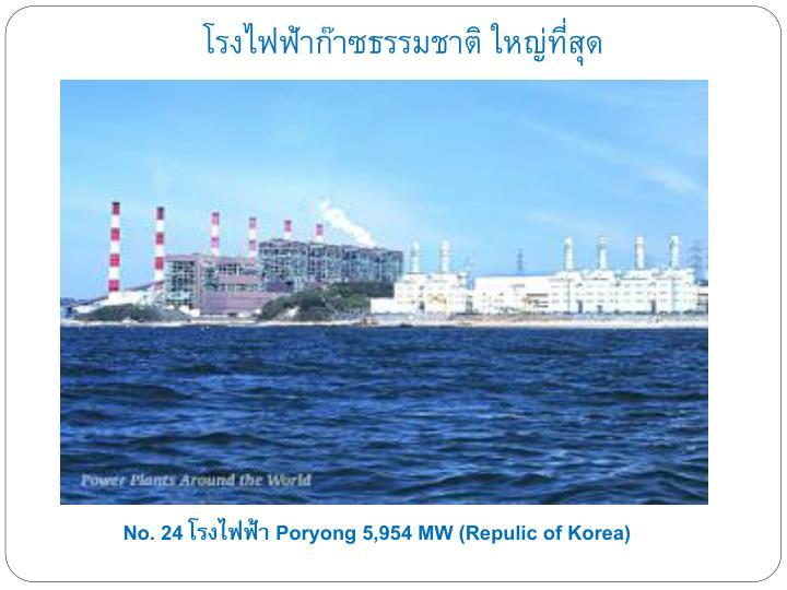 โรงไฟฟ้าก๊าซธรรมชาติ ใหญ่ที่สุด