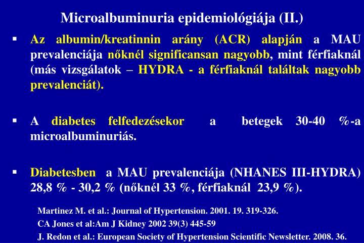 Microalbuminuria epidemiológiája (II.)