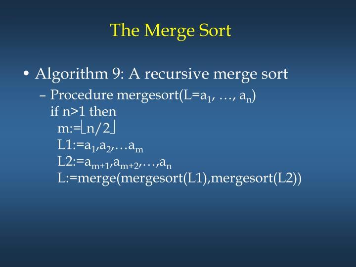 The Merge Sort