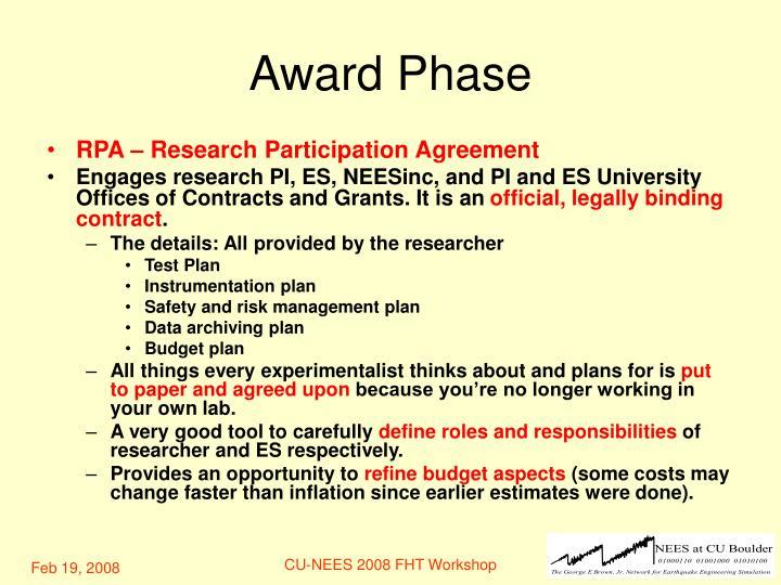 Award Phase
